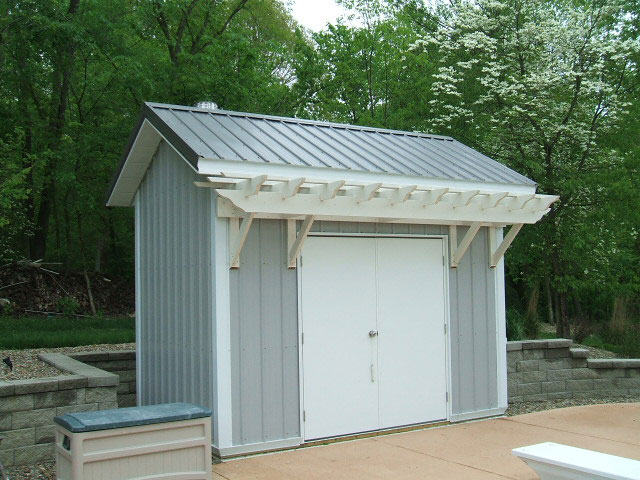 A Small Backyard Storage Shed